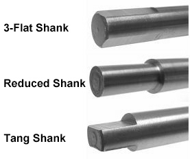 Viking Drill and Tool-Common Shank Types