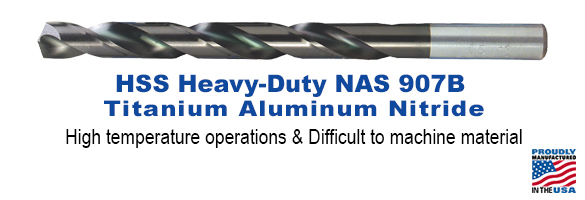 High Speed Steel Titanium Aluminum Nitride Heavy-Duty NAS 907B