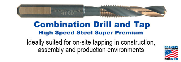 Type 40-AG HSS Super Premium Combination Drill & Tap